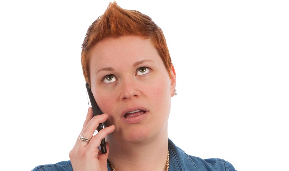 Pijnlijke klant momenten tijdens het bellen