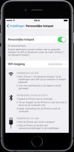 Maak een hotspot met iOS