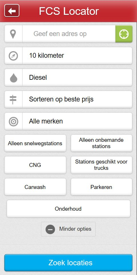 Overzicht tankstations Nederland. Vindt de tankstation locaties de FCS locator!