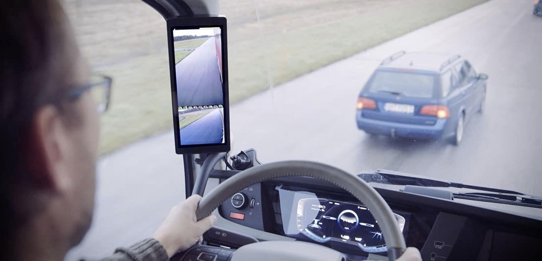 Buitenspiegels voor vrachtwagens is niet meer verplicht